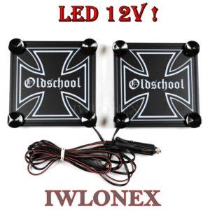 IMG 8625 300x300 - 1 Paar LKW LED Leuchtschilder Eiserne Kreuz 12V!!!!