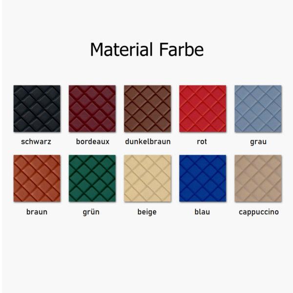 Material Farbe 600x600 - Fußmatten passend für VOLVO FH4 Automatik - deine Farben