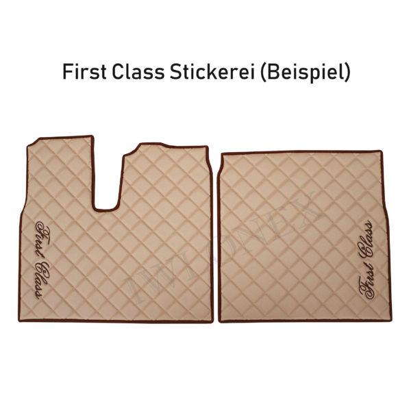 First Class Stickerei Beispiel 600x600 - Schranktürverkleidung passend für DAF XF EURO6 SSC - deine Farben