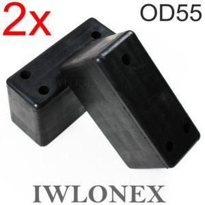 IMG 4031 300x300 - 2x Rammpuffer, Gummipufffer, Anfahrpuffer, Heckschutzpuffer OD55