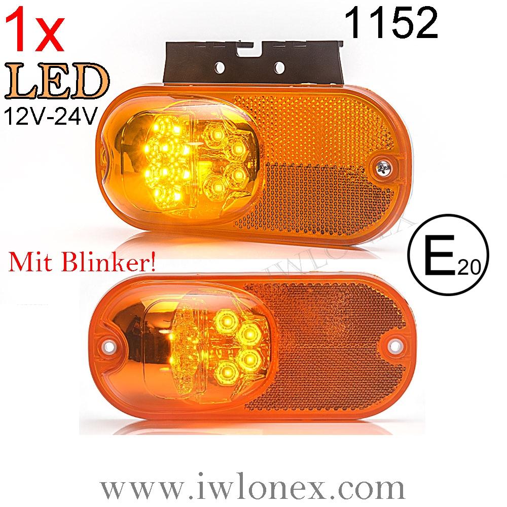 1152 iwlonex - 1x LED SEITENMARKIERUNGSLEUCHTE MIT BLINKER! 1152