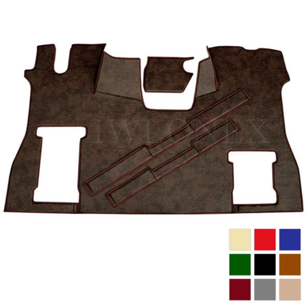 Fussmatte Sitzsockelverkleidung SCANIA S Kunstleder deine Farben IWLONEX 600x600 - Fußmatte für SCANIA S + Sitzsockelverkleidung - Marmor - deine Farben