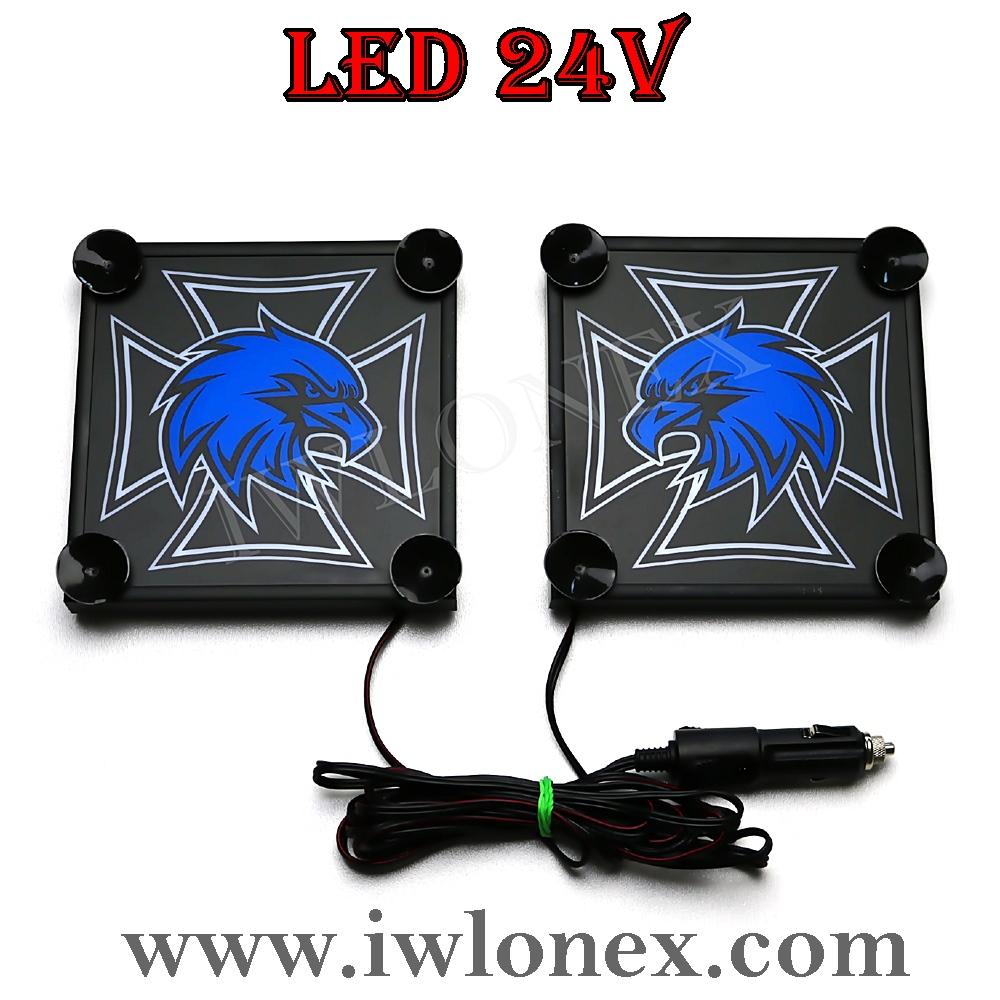 1 - 1 Paar LKW LED Leuchtschilder 24V SCANIA UNI