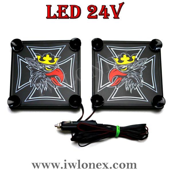 11 600x600 - 1 Paar LKW LED Leuchtschilder 24V SCANIA
