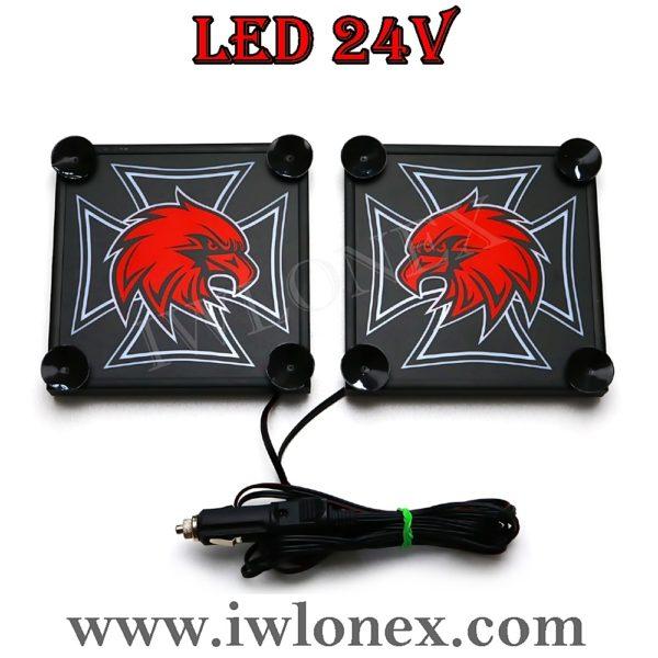 3 600x600 - 1 Paar LKW LED Leuchtschilder 24V SCANIA UNI