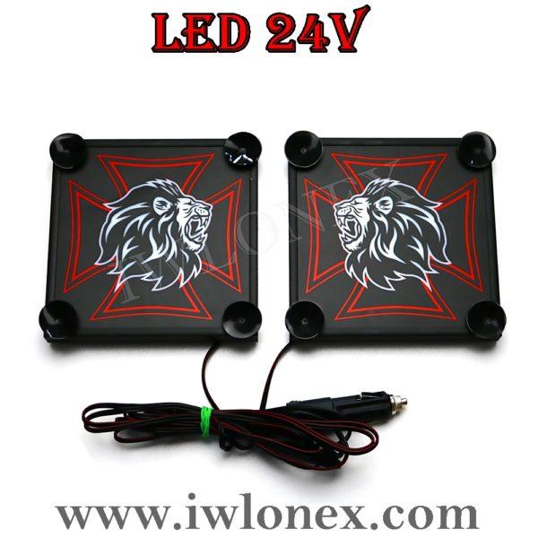 6 600x600 - 1 Paar LKW LED Leuchtschilder 24V MAN UNI