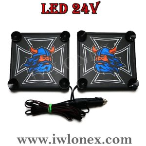 7 300x300 - 1 Paar LKW LED Leuchtschilder 24V Eiserne Kreuz Wikinger