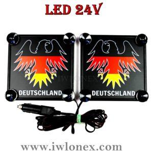 24 300x300 - 1 Paar LKW LED Leuchtschilder 24V Adler DE