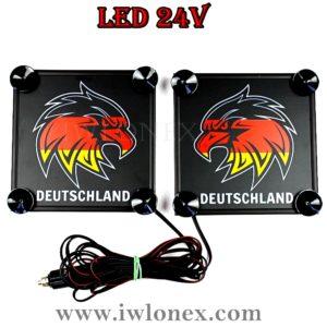 25 1 300x300 - 1 Paar LKW LED Leuchtschilder 24V Adlerkopf DE
