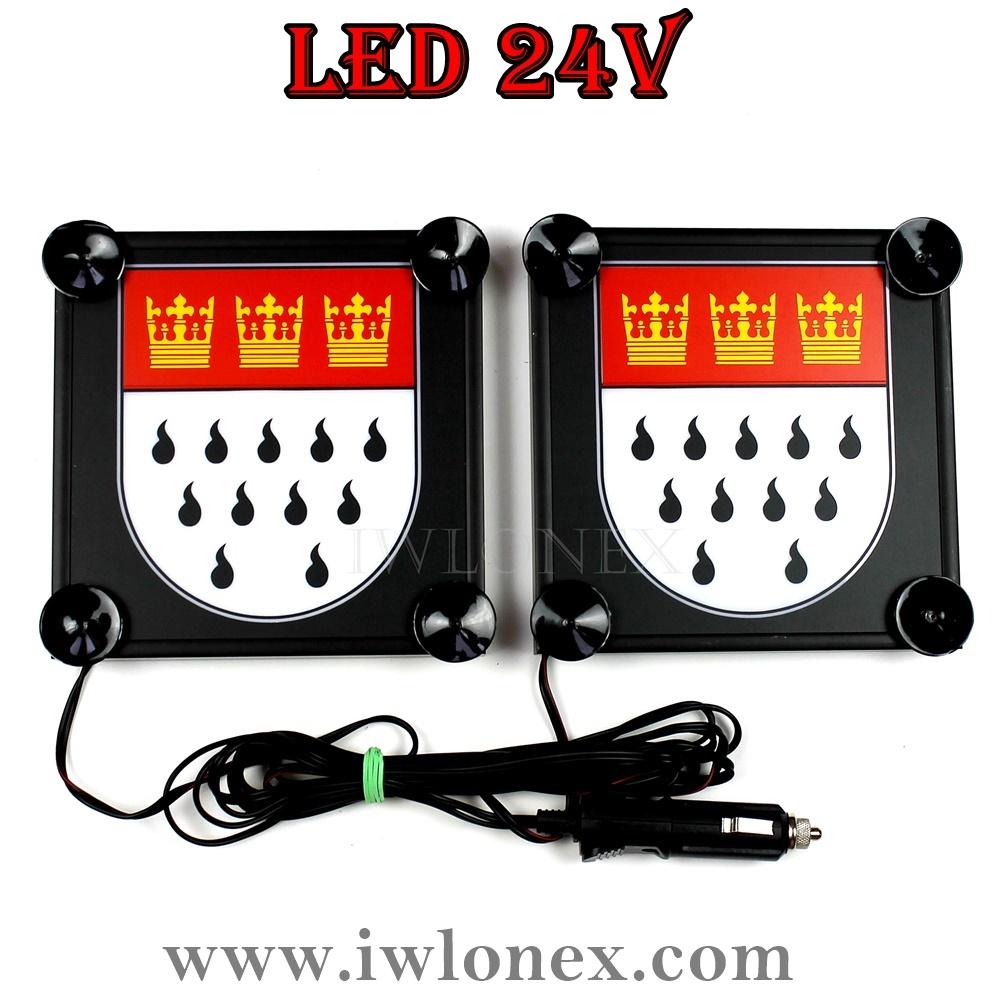 33 köln - 1 Paar LKW LED Leuchtschilder 24V, Köln