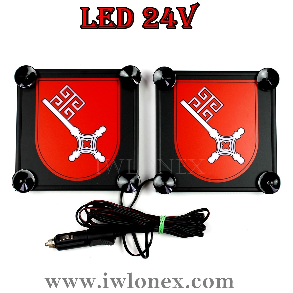 34 bremen - 1 Paar LKW LED Leuchtschilder 24V, Bremen