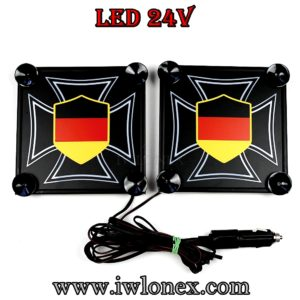 kreuz DE 1 300x300 - 1 Paar LKW LED Leuchtschilder 24V Eiserne Kreuz DE