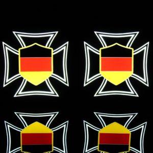 kreuz de 3 300x300 - 1 Paar LKW LED Leuchtschilder 24V Eiserne Kreuz DE Altdeutsch