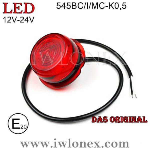 545BC II MC Rot iwlonex 1 600x600 - 1x LED MODUL-Begrenzungsleuchte 545/I/MC-K0,5 Rot