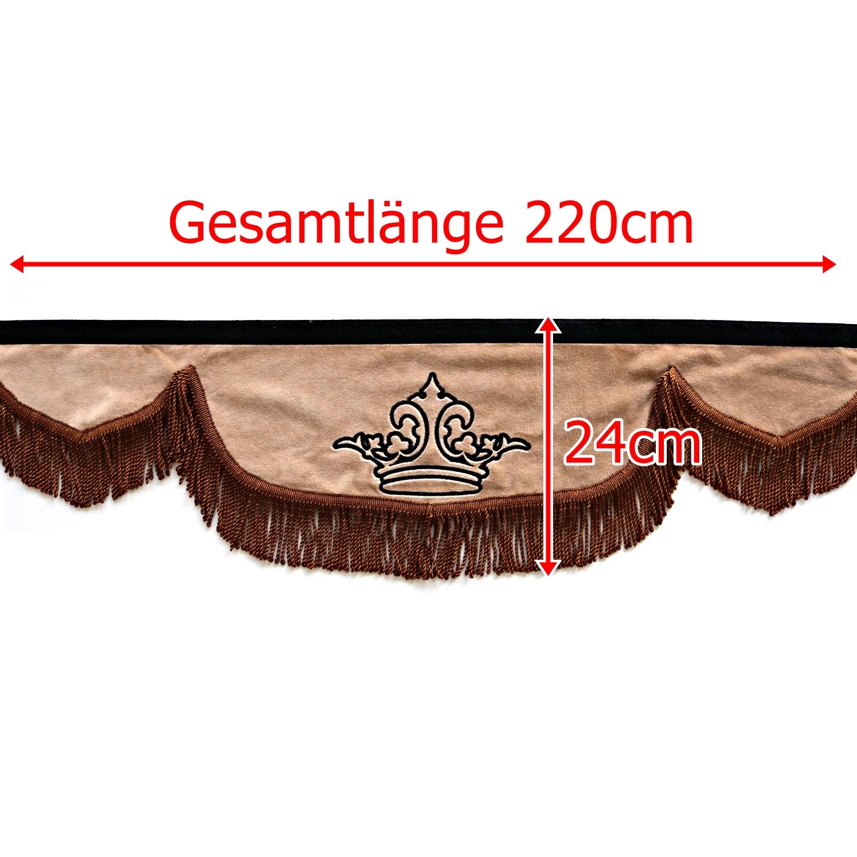 Gardine 220cm24cm iwlonex - Frontscheibenbordüre Schall Borde - UNIVERSAL