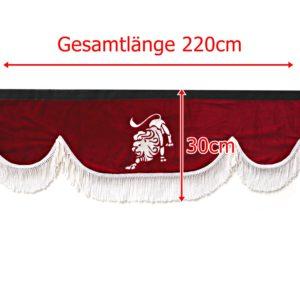 Gardine 220cm30cm iwlonex 300x300 - Frontscheibenbordüre Schall Borde passend für MAN XXL