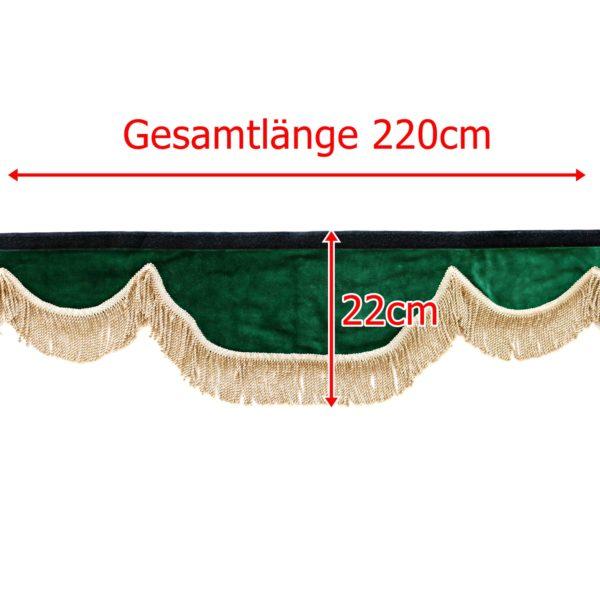 Gardine L 220cm H 22cm iwlonex 600x600 - Frontscheibenbordüre Schall Borde - UNIVERSAL