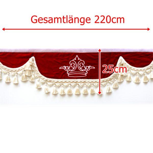 Gardine L 220cm H 25cm 299 600x600 - Frontscheibenbordüre Schall Borde - UNIVERSAL