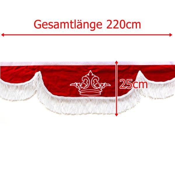 Gardine L 220cm H 25cm iwlonex 600x599 - Frontscheibenbordüre Schall Borde - UNIVERSAL