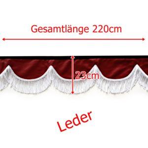Gardine L 221cm H 23cm 300x300 - Leder Frontscheibenbordüre Schall Borde - UNIVERSAL