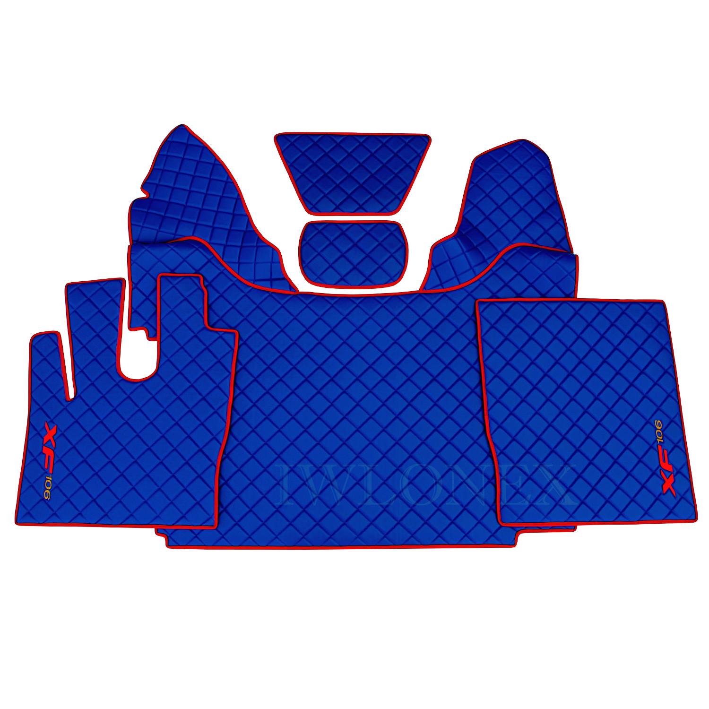 LKW Fussmatten passend fur DAF XF106 E6 Blau Rot 1 - Fußmatten passend für DAF XF106 E6 Automatik Blau/Rot 460 u. 510PS