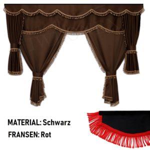 LKW Gardinen passend fur DAF XF106 E6 SSC Schwarz Rot 300x300 - LKW Gardinen passend für DAF Schwarz/Rot