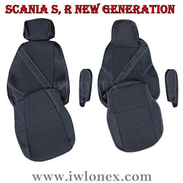 LKW Sitzbezuge passend fur SCANIA 600x600 - LKW Sitzbezüge passend für SCANIA S u. R New Generation - Schwarz