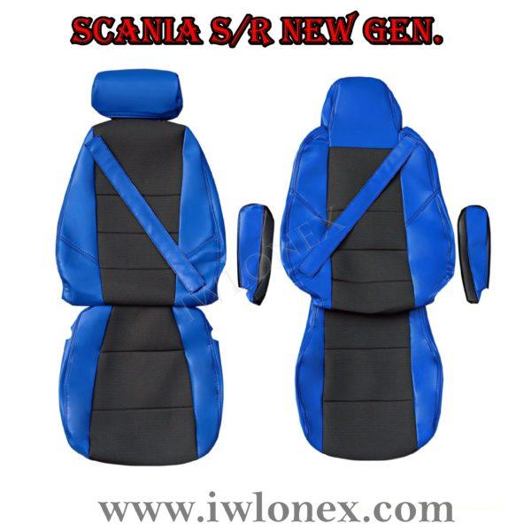 Sitzbezuge passend fur SCANIA R New Generation Blau 2 600x600 - LKW Sitzbezüge passend für SCANIA S u. R New Generation - Blau