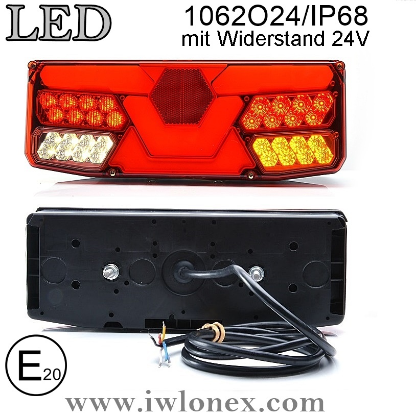 1062 iwlonex 1 - 1x LED HECKLEUCHTE, RÜCKLEUCHTE 1062 O24IP68