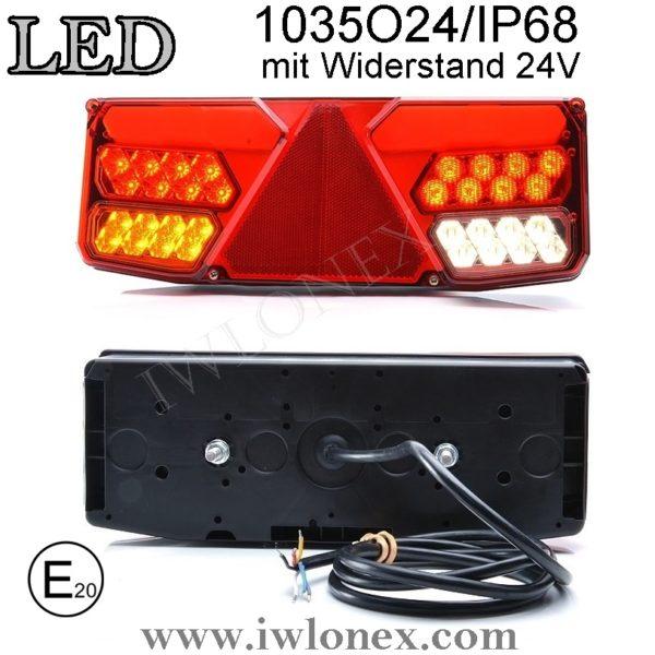 1035 iwlonex 600x600 - 1x LED HECKLEUCHTE, RÜCKLEUCHTE, SCHLUSSLEUCHTE 1035 O24IP68