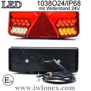 1038 iwlonex 300x300 - 1x LED HECKLEUCHTE, RÜCKLEUCHTE, SCHLUSSLEUCHTE 1038 O24IP68