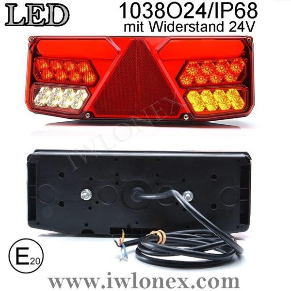 1038 iwlonex 600x600 - 1x LED HECKLEUCHTE, RÜCKLEUCHTE, SCHLUSSLEUCHTE 1038 O24IP68