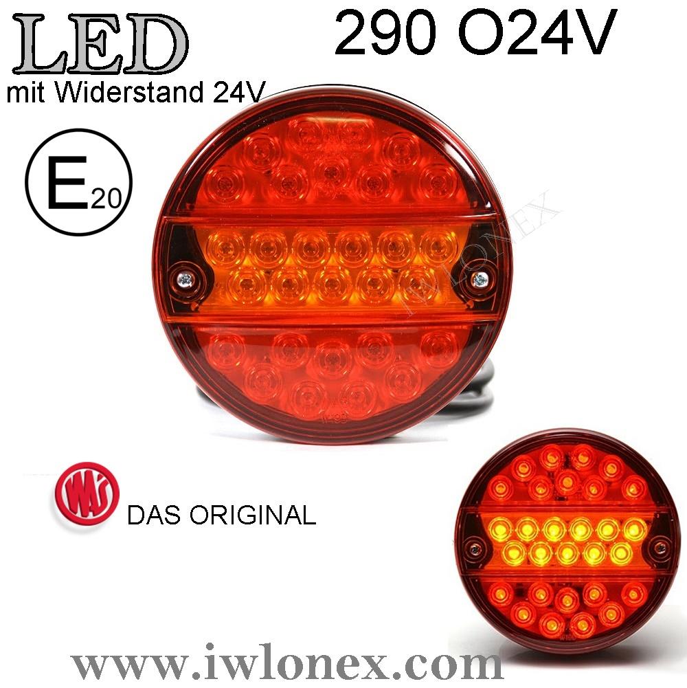 290 iwlonex - 1x LED RÜCKLEUCHTE SCHLUSSLEUCHTE 290 O24V