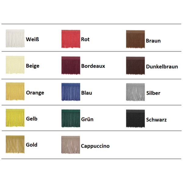 Franzen Palette IWLONEX 600x600 - LKW Gardinen 5-teilig Set mit Fransen + Haken + Klett-Klebeband - deine Farben