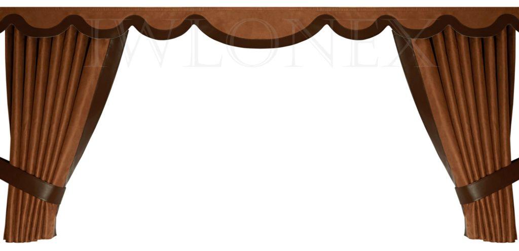 LKW Gardinen doppelt verarbeitet mit Kunstleder 2 IWLONEX mini 1024x495 - LKW Gardinen 5-teiliges Set mit Kunstlederkante und beleuchtete Frontscheibenbordüre+ Zubehör - deine Farben