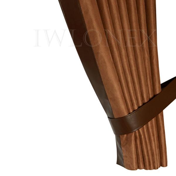 LKW Gardinen doppelt verarbeitet mit Kunstleder 4 IWLONEX 600x600 - LKW Gardinen 5-teiliges Set mit Kunstlederkante und beleuchtete Frontscheibenbordüre+ Zubehör - deine Farben