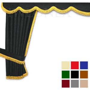 LKW Gardinen doppelt verarbeitet mit Schlaufen 1 IWLONEX main ok 300x300 - LKW Gardinen 5-teilig Set + Haken + Klett-Klebeband - deine Farben