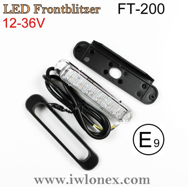 IMG 0694 600x598 - 1x LED WARNLEUCHTE FRONTBLITZER GELB FT-200