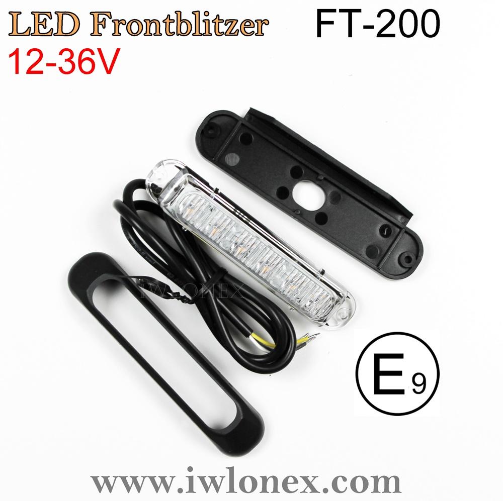 IMG 0694 - 1x LED WARNLEUCHTE FRONTBLITZER GELB FT-200
