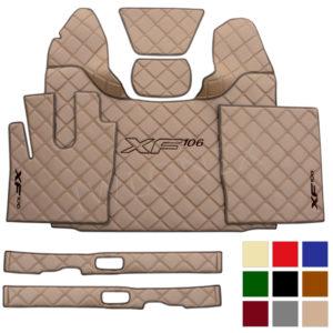 LKW Fussmatten Sitzsockelverkleidung passend fur DAF XF106 E6 Grosse Muster cappuccino IWLONEX 300x300 - Fußmatten+Sitzsockelverkleidung passend für DAF XF EURO6 - Große Muster - deine Farben