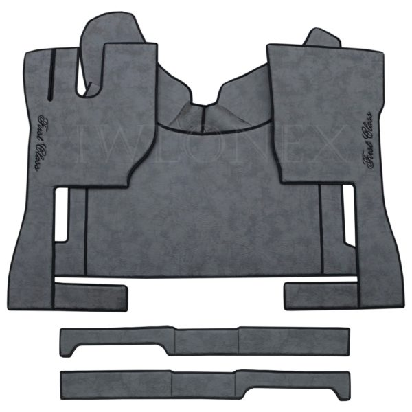 LKW Fussmatten passend fur VOLVO FH4 Marmor Dunkelgrau 1 IWLONEX 600x600 - Fußmatten passend für Volvo FH4 + Sitzsockelverkleidung - Dunkelgrau Marmor