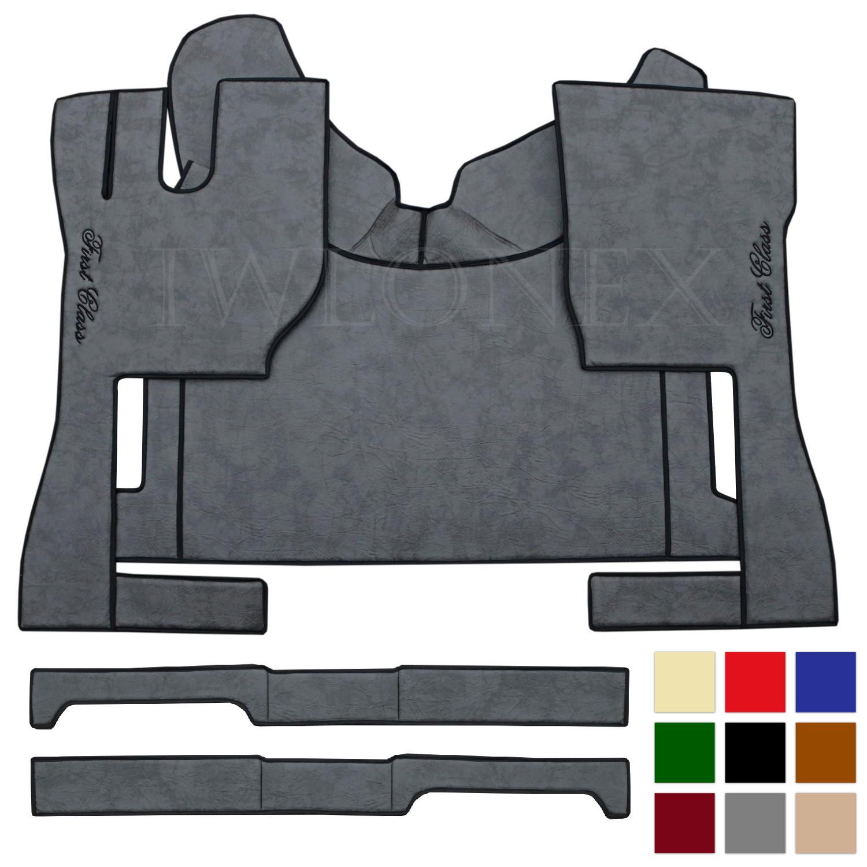 LKW Fussmatten Stizsockelverkleidung passend fur VOLVO FH4 Marmor deine Farben IWLONEX - Fußmatten passend für VOLVO FH4 - Marmor - deine Farben
