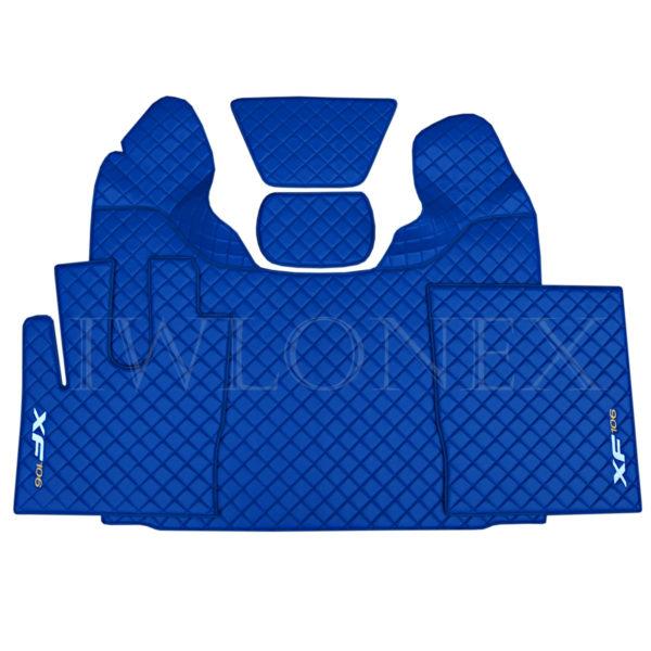LKW Fussmatten passend fur DAF XF 106 E6 Blau IWLONEX 600x600 - Fußmatten für DAF XF106 E6 Automatik 480 u. 530PS - Blau