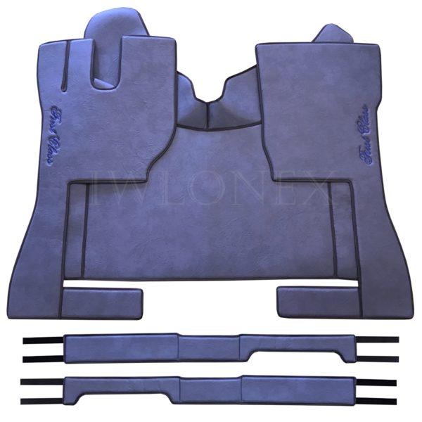 Fussmatten passend fur VOLVO FH4 Marmor Blau IWLONEX 600x600 - Fußmatten passend für Volvo FH4 + Sitzsockelverkleidung - Blau Marmor