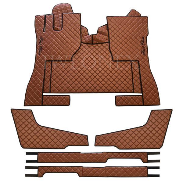 Fussmatten passend fur VOLVO FH4 Sitzsockelverkleidung Turverkleidung Braun IWLONEX 600x600 - Fußmatten+Sitzsockelverkleidung+Türverkleidung passend für VOLVO FH4 - Braun