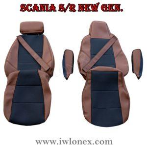 Sitzbezuge passend fur SCANIA R New Generation Braun 2 300x300 - LKW Sitzbezüge passend für SCANIA S u. R New Generation - Braun/Schwarz