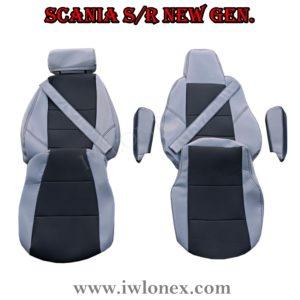 Sitzbezuge passend fur SCANIA R New Generation Grau 2 300x300 - LKW Sitzbezüge passend für SCANIA S u. R New Generation - Grau/Schwarz