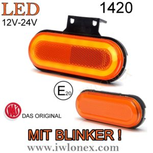 1399 iwlonex Kopie 300x300 - 1x LED UMRISSLEUCHTE Seitenmarkierungsleuchte MIT BLINKER! 1420