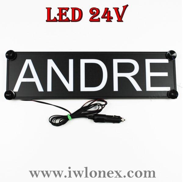 IMG 0746 600x597 - 1 LKW LED NAMENSCHILD 24V ANDRE