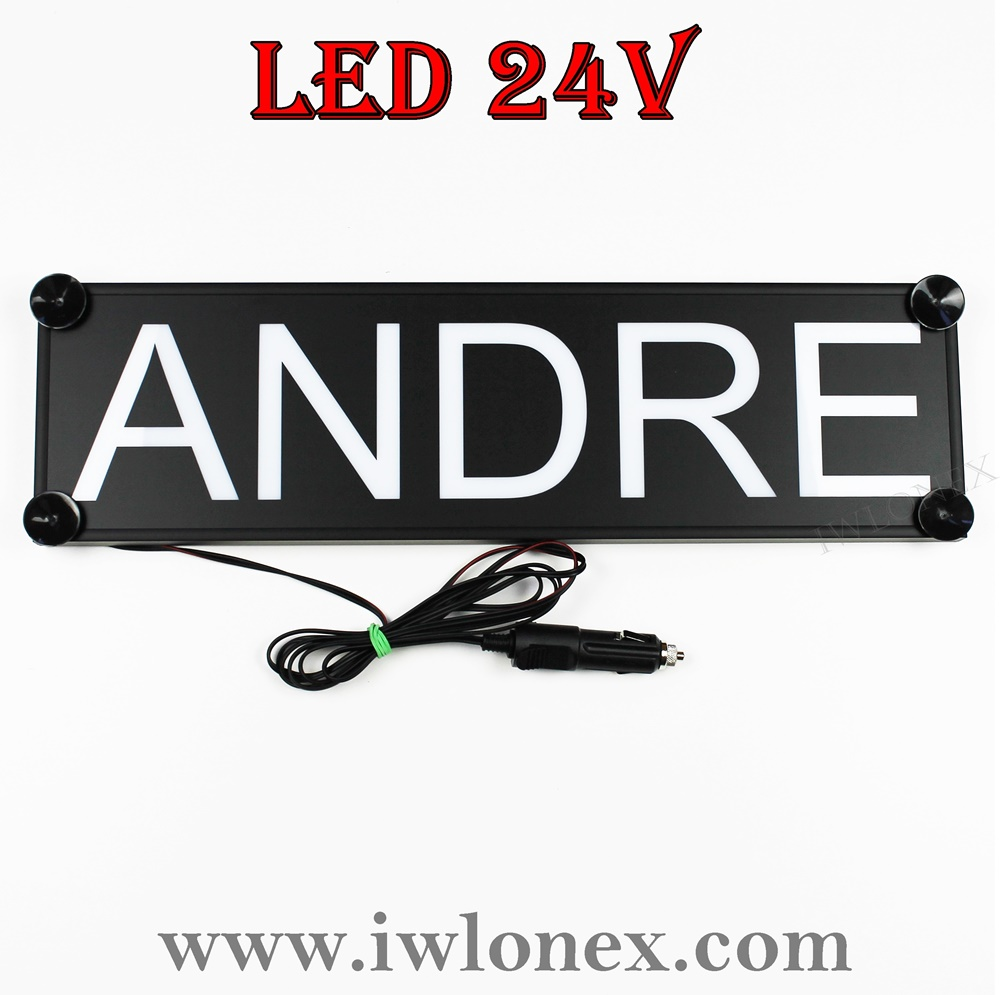 IMG 0746 - 1 LKW LED NAMENSCHILD 24V ANDRE